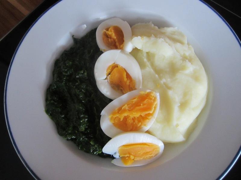 Spinat mit Eieieieiei…