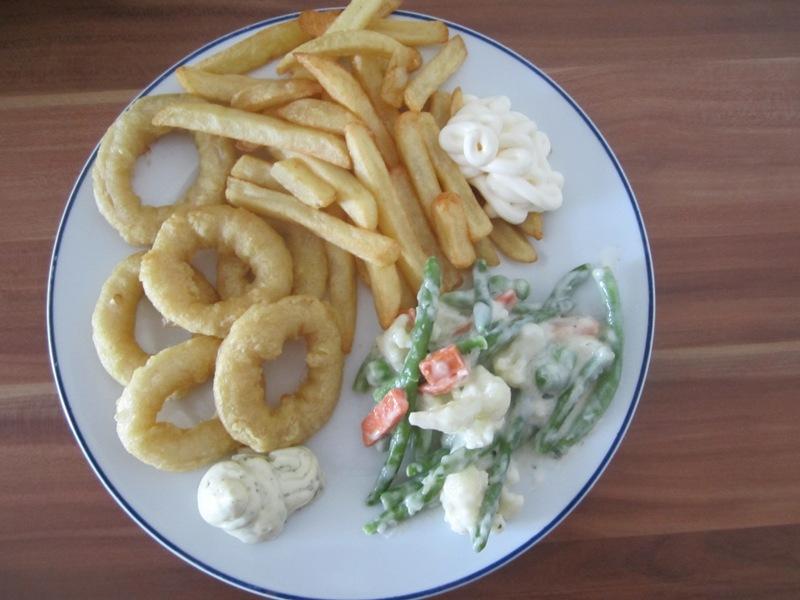 Iglo Calamares und Gartengemüse