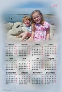 Stoffkalender Pixelwelle