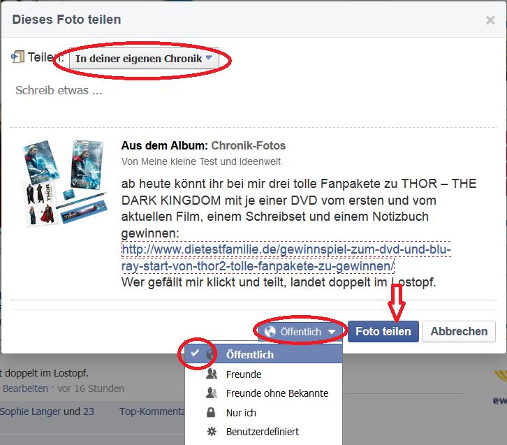 Anleitung Teilen bei facebook 02