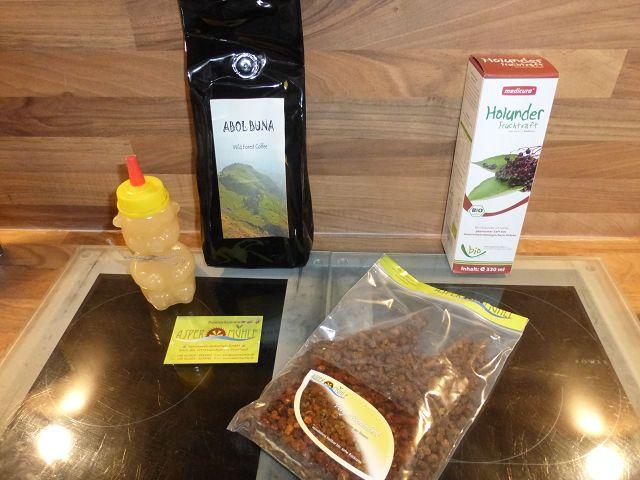 Produkttest: Kaffee, Honig, Holunder Saft und Bienenbrot von der Aspermühle