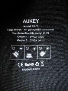 Aukey Solarladegerät und die 16000mAh Powerbank (23)