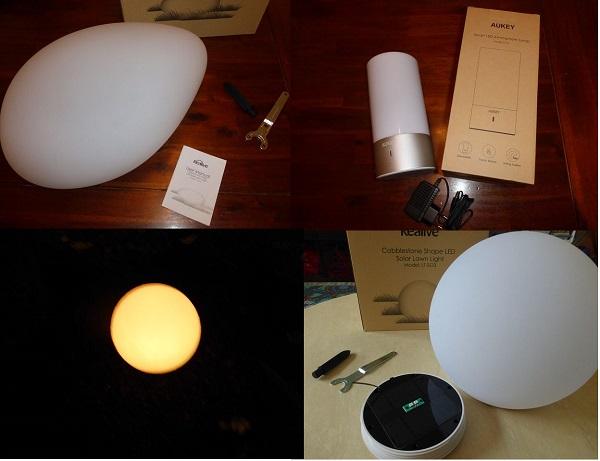 Produkttest: Aukey Tischlampe und Kealive Solar-Stein und Solar-Lampe
