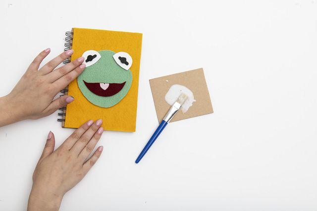MUPPET BABIES Bastelanleitung Kermit Notizbuch