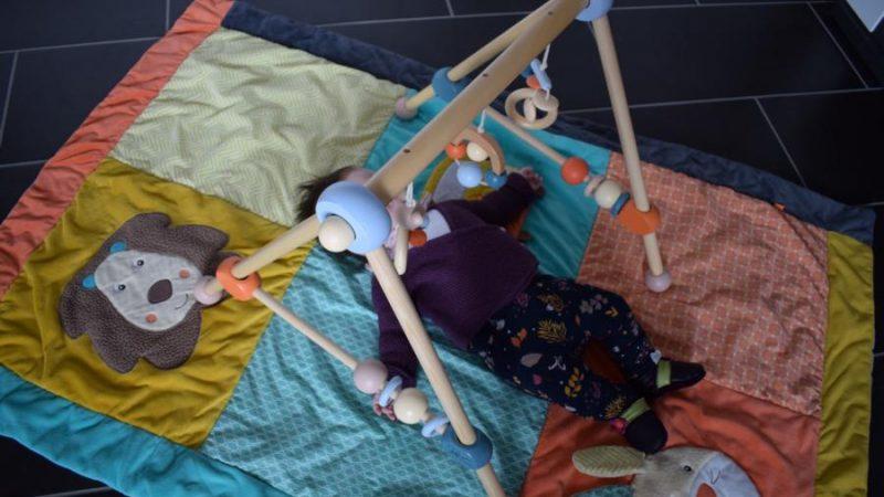Produkttest: Bieco Holz Gym –  höhenverstellbarer Spielbogen