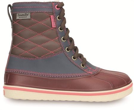 CROCS AW14 All Cast Waterproof Duck Boot W Side Nightfall Coral 9999  - Adventskalender, 24. Türchen: Crocs Winterschuhe