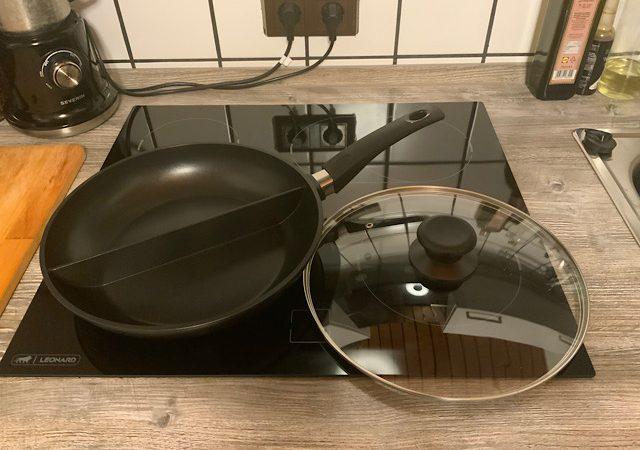 WILFA PRODURE Pro Doppelpfanne, zwei Gerichte auf einmal zubereiten