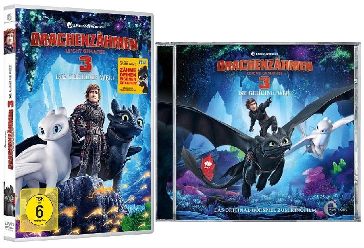 Gewinnspiel: Drachenzähmen leicht gemacht 3 auf DVD