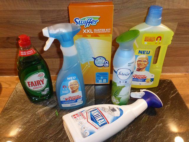 Frühjahrsputz mit Produkten von PG 1 - Produkttest: Frühjahrsputz mit Produkten von P&G