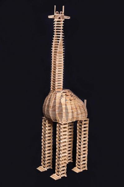 Giraffe aus Kapla-Steinen Foto Kapla