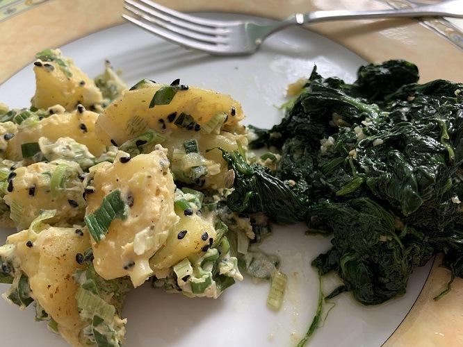 Rezept: Kartoffeln indisch mit Spinat