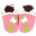 Krabbelschuhe Blume Pink HEBA 125x125 - Osterkalender, 13. Türchen: Krabbelschuhe und Lauflernschuhe von Hobea