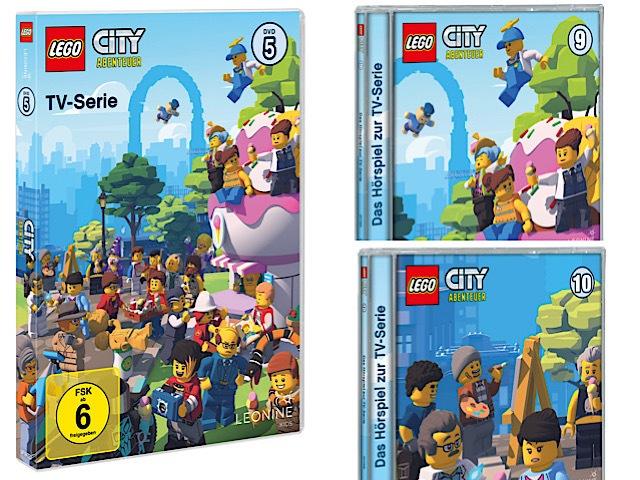 Gewinnspiel: LEGO® City ABENTEUER DVD 5, CD 9 und CD 10