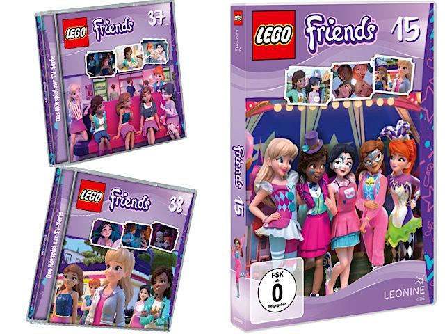 Gewinnspiel: LEGO® Friends DVD 15,  CD 37 und CD 38