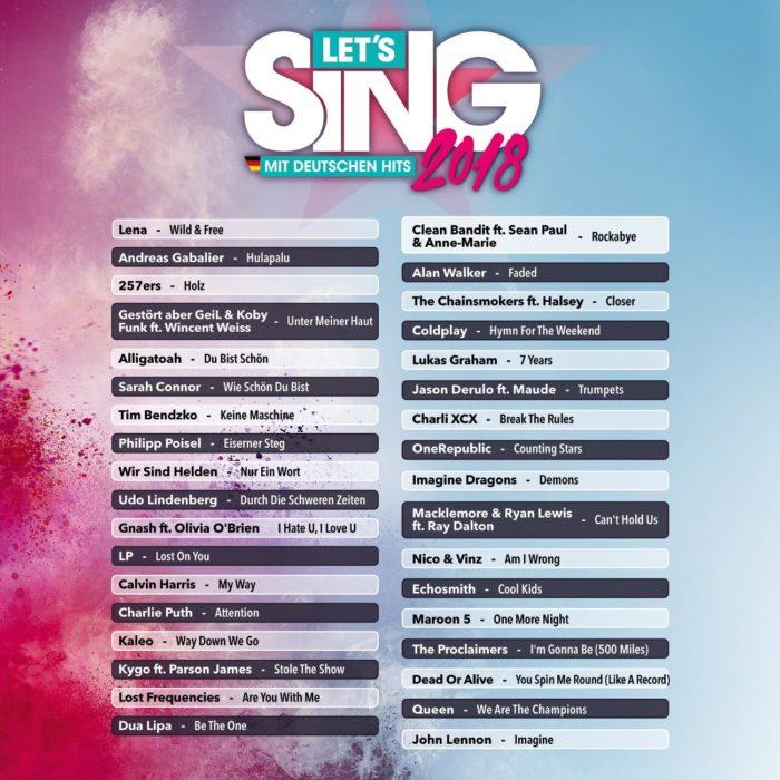 Lets Sing 2018 mit deutschen Hits 2 - Rezension: Let's Sing 2018 mit deutschen Hits
