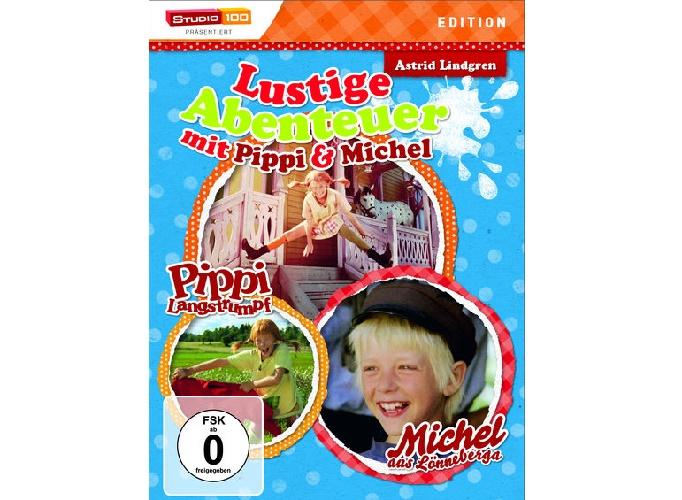 Lustige Abenteuer mit Pippi  Michel DVD - Gewinnspiel: Lustige Abenteuer mit Pippi und Michel