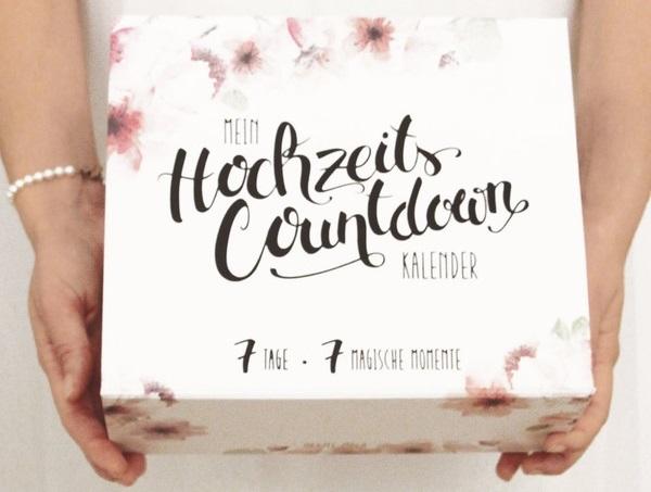 Mein Hochzeits-Countdown-Kalender