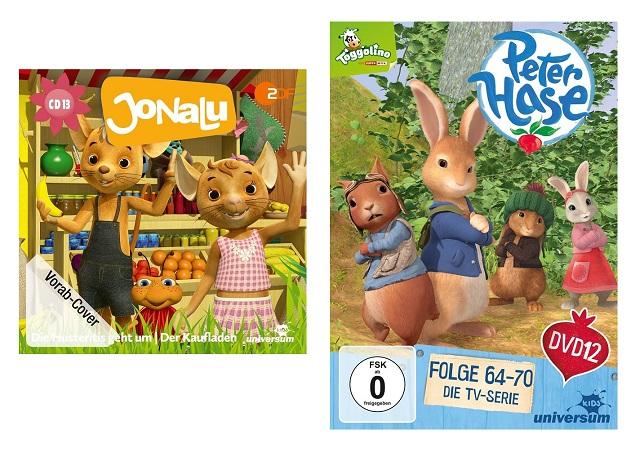 Gewinnspiel: Peter Hase DVD 12 und JoNaLu CD 13