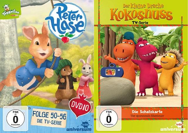 Gewinnspiel: Peter Hase und Der Kleine Drache Kokosnuss DVD