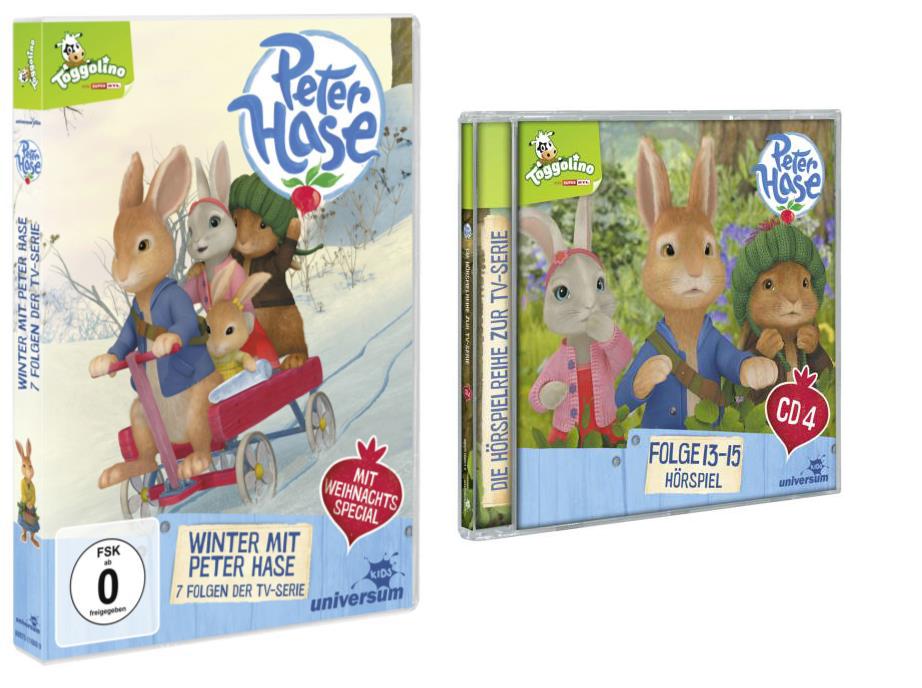 Peter Hase - Gewinnspiel: Peter Hase DVD 8 und CD 4