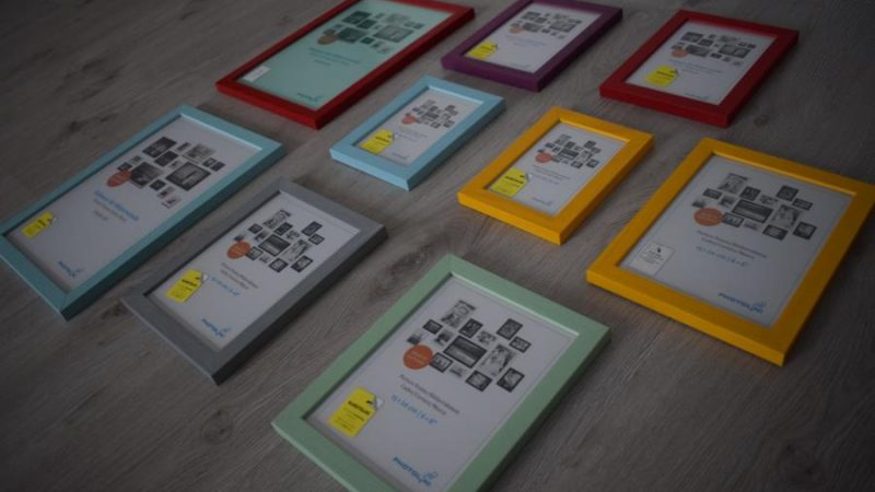 Produkttest: 9er Set Bilderrahmen Bunt mit Acrylglas