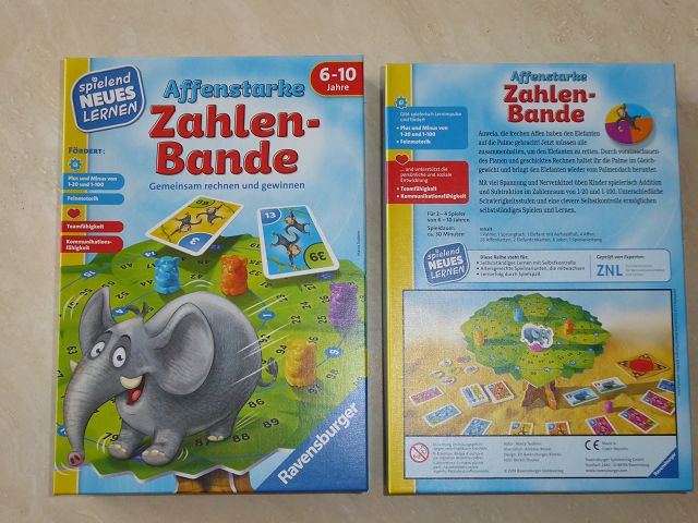 Rezension: Ravensburger Spiel Affenstarke Zahlenbande