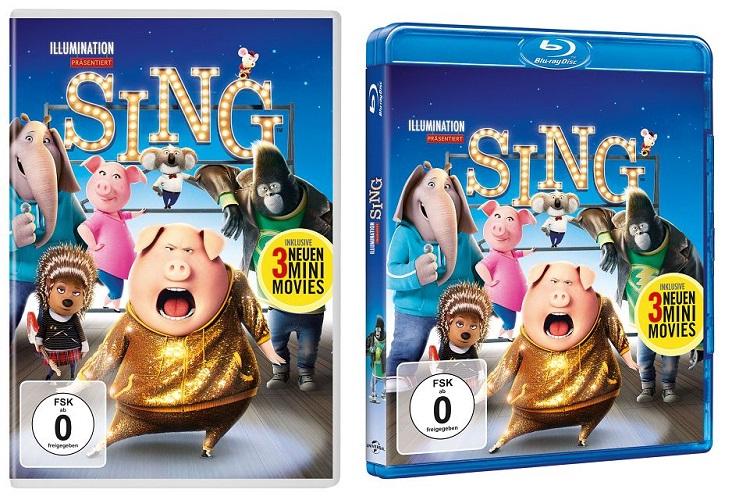 Gewinnspiel zum Heimkinostart von SING