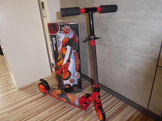 Produkttest: Smoby Dragons Roller mit Bremse