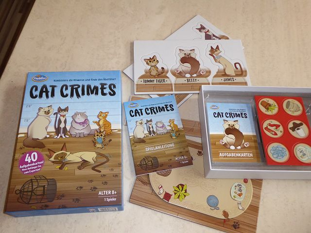 Rezension: Spiel Cat Crimes von ThinkFun
