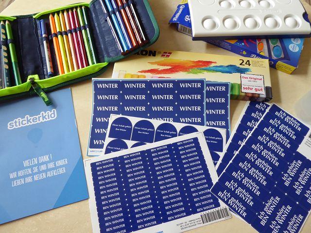 Produkttest: StickerKid Paket M für Kindergarten, Schule und Co