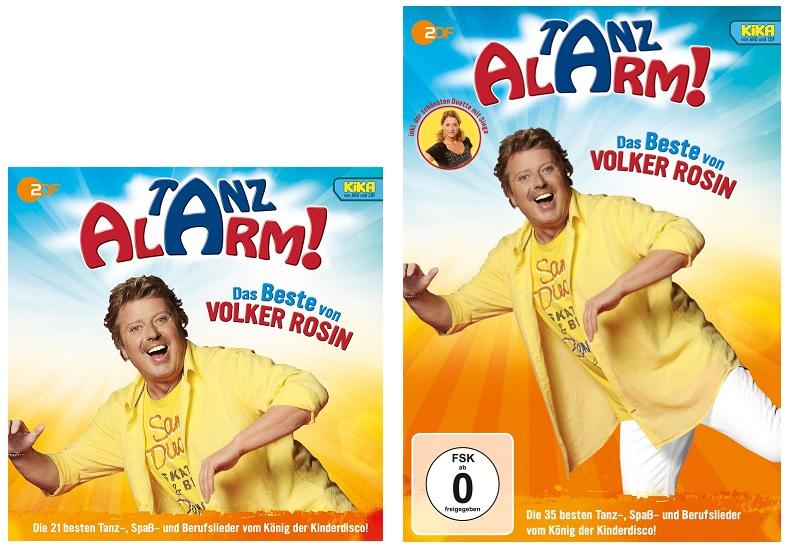 KiKA TANZALARM! Das Beste von Volker Rosin als DVD und CD
