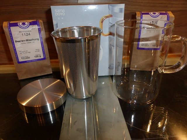 Teeglas mit Teesieb 3 - Produkttest: Teeglas mit Teesieb von Samadoyo und Gaiwan Tee
