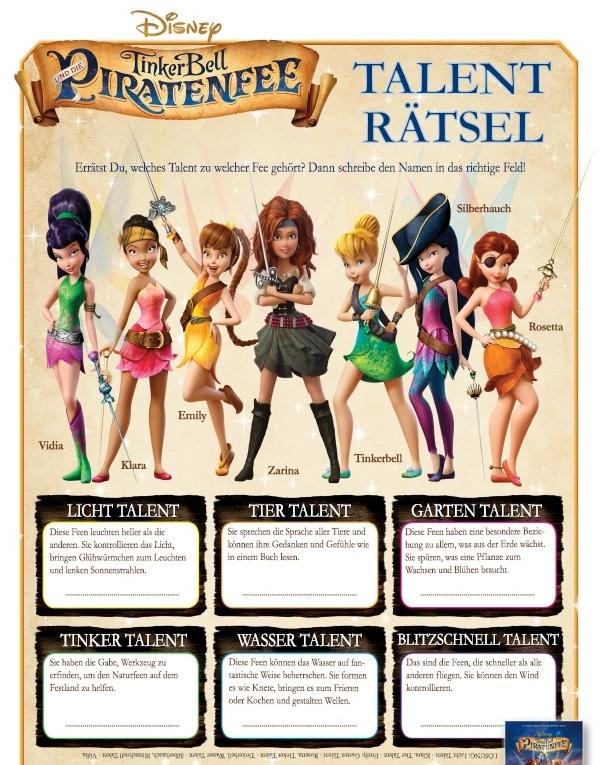 TinkerBell und die Piratenfee Talent-Rätsel
