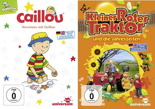 Gewinnspiel: Verreisen mit Caillou und Kleiner roter Traktor und die Jahreszeiten