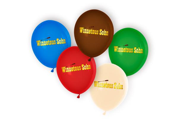 schöne Idee für Kindergeburtstage: Luftballons Wettflug