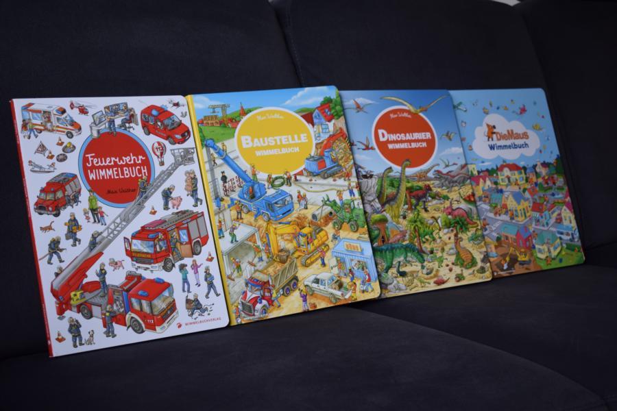 Rezension: Wimmelbücher Baustelle, Feuerwehr, Dinosaurier & Die Maus vom Wimmelbuchverlag
