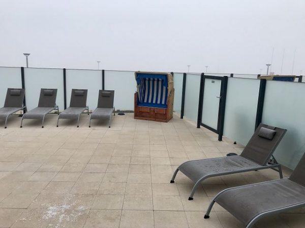 a ja Travemünde - Das Resort - Sauna Terrasse