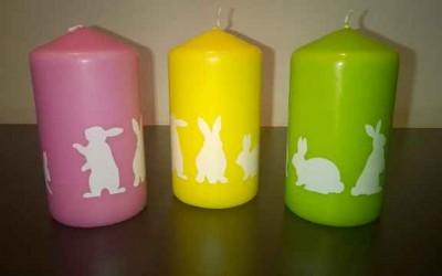 Oster Deko-Tipp: eika Kerzen mit Kaninchen
