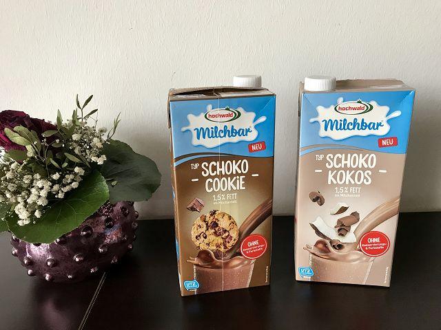Testaktion: hochwald milchbar Schoko Cookie und Schoko Kokos