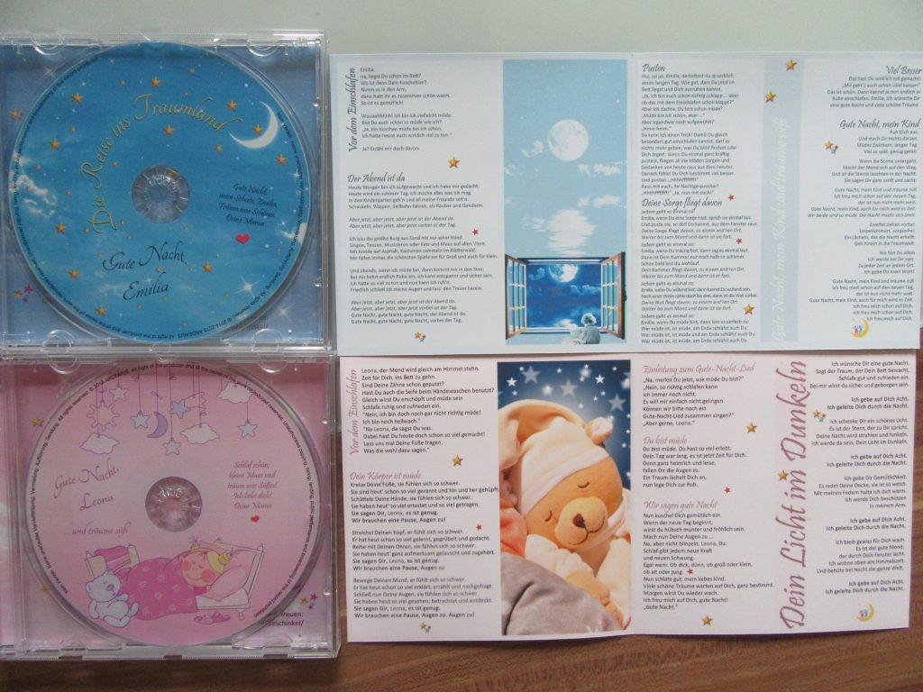 personalisierte Kinder-Schlaflieder auf CD