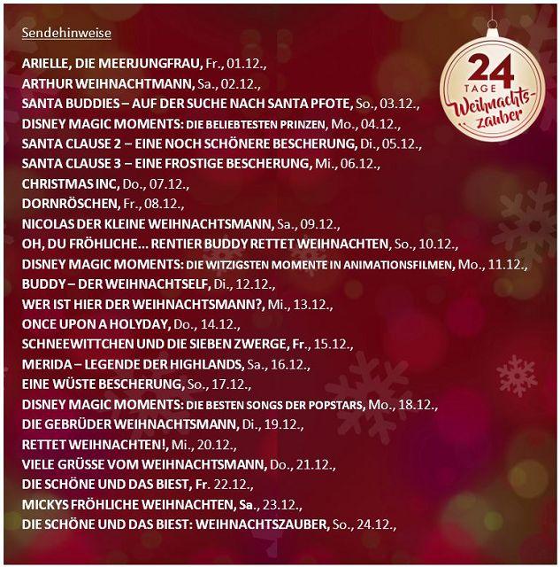k 24 Tage Weihnachtszauber - 24 Tage Weihnachtszauber - der Disney Channel TV-Adventskalender
