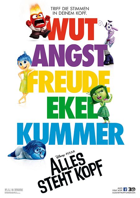 k ALLES STEHT KOPF Plakat - Familienzeit ist Disney Zeit: Disney Film-Highlights rund um die Osterfeiertage