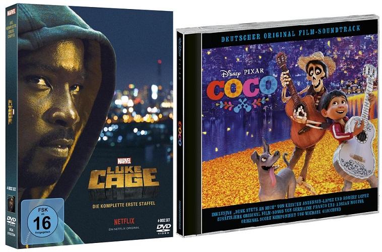 k Marvel´s Luke Cage Coco Soundtrack - Adventskalender Tür 15: Coco Soundtrack und Marvel's Luke Cage DVD