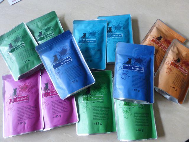Produkttest: Verschiedene Sorten von Catz finefood im Test