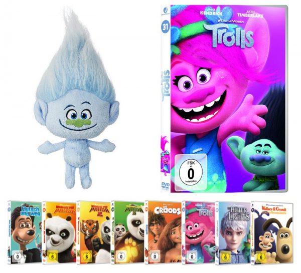 k Trolls Fanpaket Gewinnspiel Dreamworks 600x545 - Gewinnspiel: 20 Jahre DreamWorks Animation - Oktober Highlights