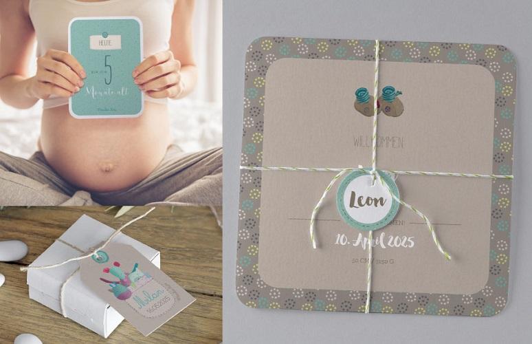 Geburtskarten, die individuelle Personalisierung