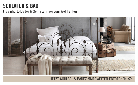wohnen im mediterranen ambiente mit landhausm beln von. Black Bedroom Furniture Sets. Home Design Ideas