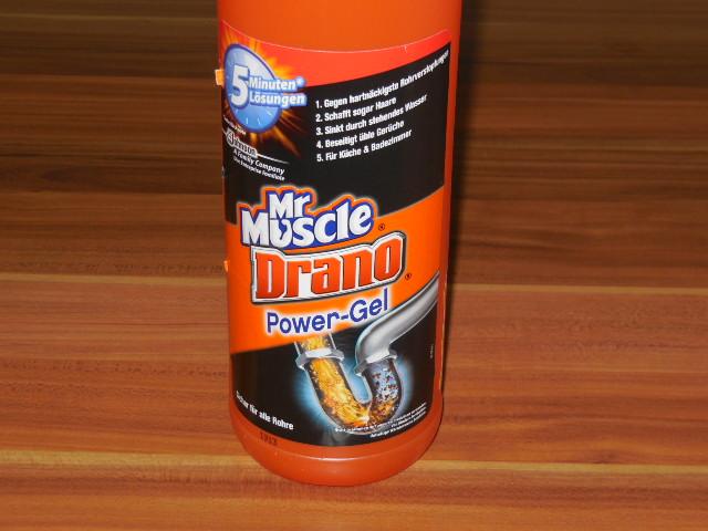 Mr muscle drano power gel im test famil s dietestfamilie for Mr muscle idraulico gel