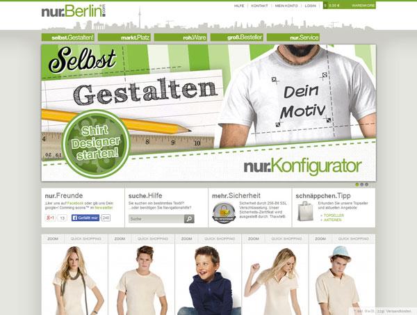T-Shirt bedrucken bei nur.Berlin – Hauptstadtshirts
