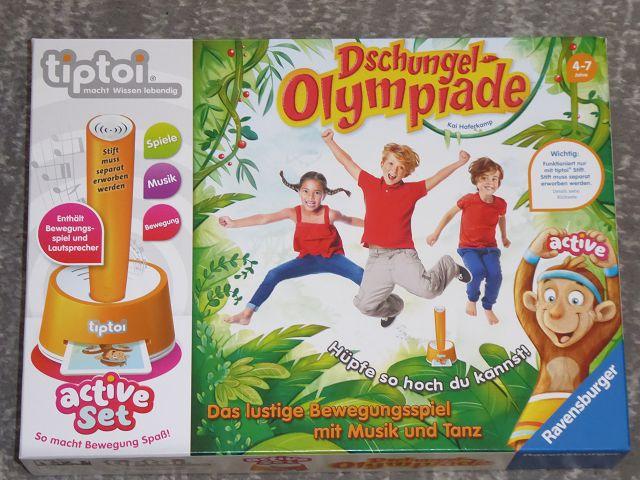 Produkttest: tiptoi active Set Dschungel – Olympiade von Ravensburger
